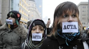 February 11, 2012: anti-ACTA protests across Europe. Image shown is of Warsaw, Poland.