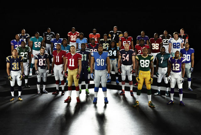 NFL players in Nike apparel