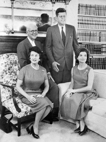 Getty Images | President Kennedy in 1961, surrounded by his father, mother, and wife Jacqueline.