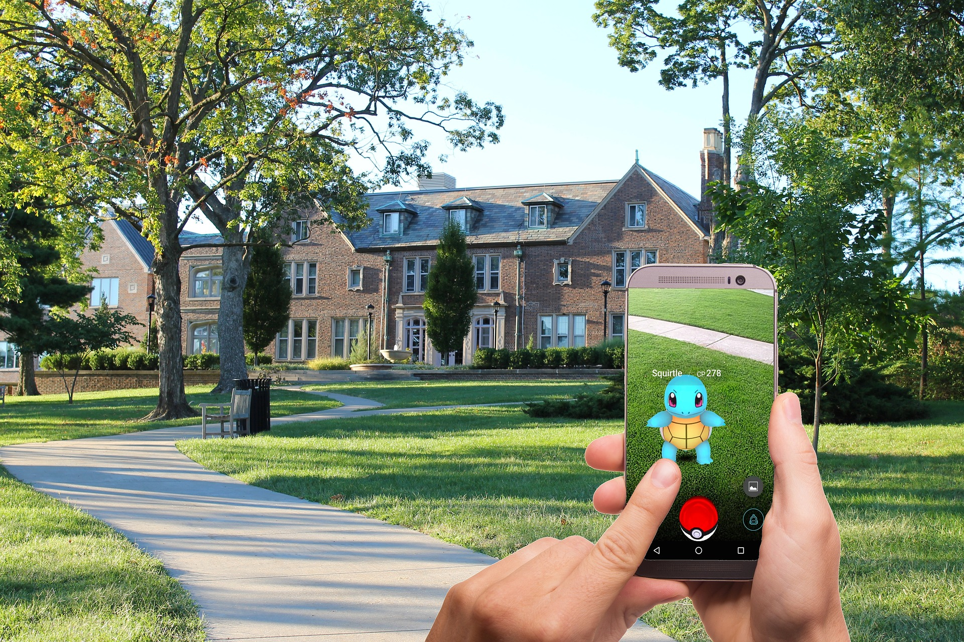 https://pixabay.com/en/pokemon-go-pokemon-street-lawn-1569794/