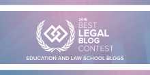 2016 Best Legal Blog graphic